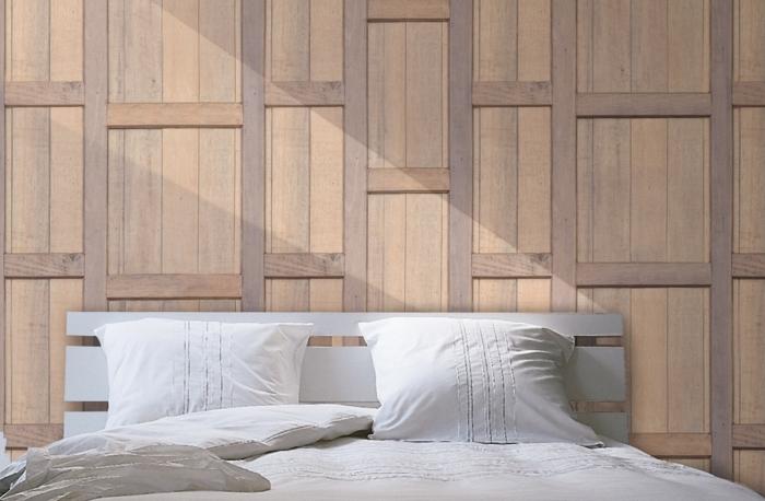 papier peint trompe loeil imitation bois