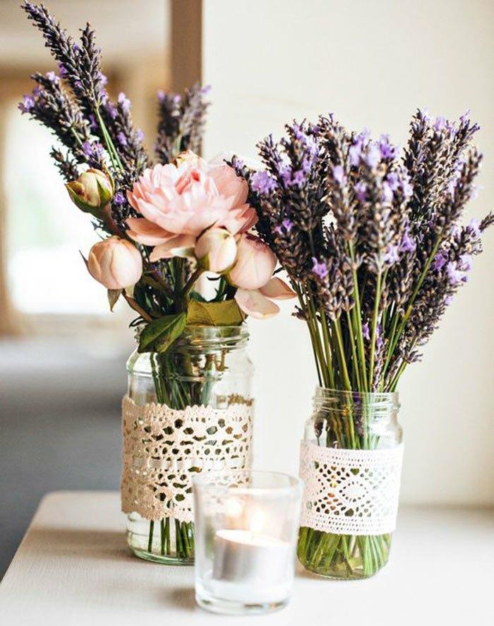 pour les fleurs-une jolie décoration tendance