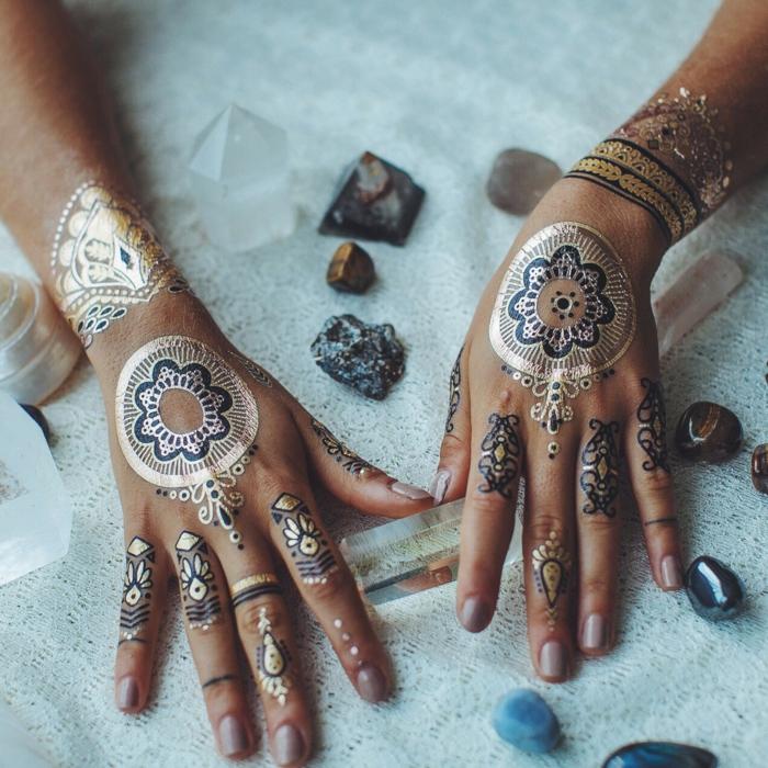 pour les mains- tatouage éphémère