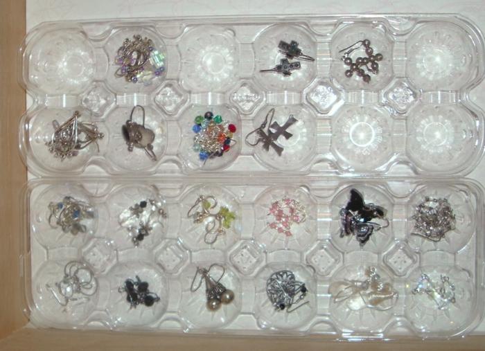 rangement bijoux dans une boite