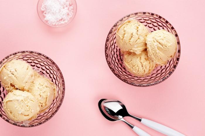 recette comment faire glace avec caramel au beurre salé