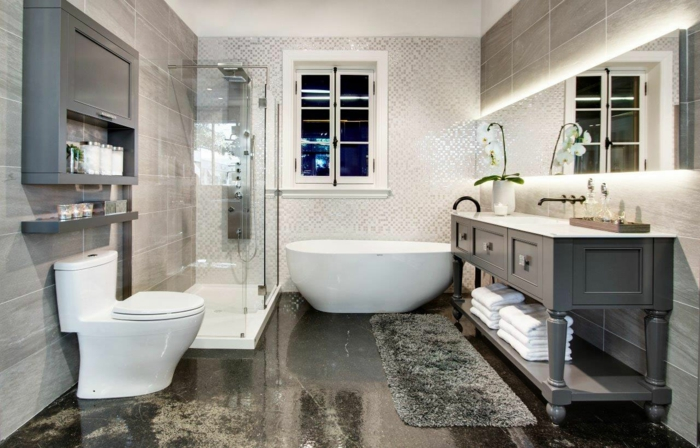 salle de bains campagne chic