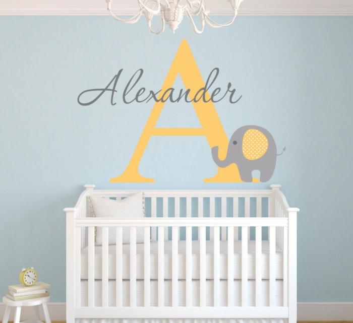 sticker personnalisé chambre bébé