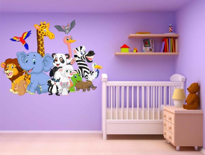 stickers muraux chambre bébé animaux