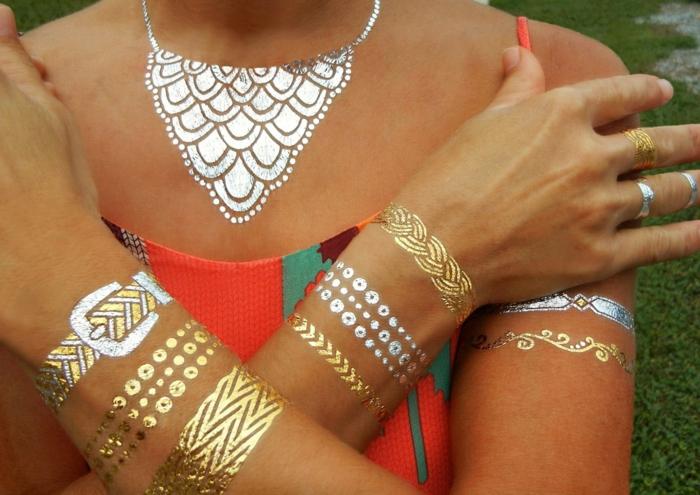 tatouage éphémère bijoux