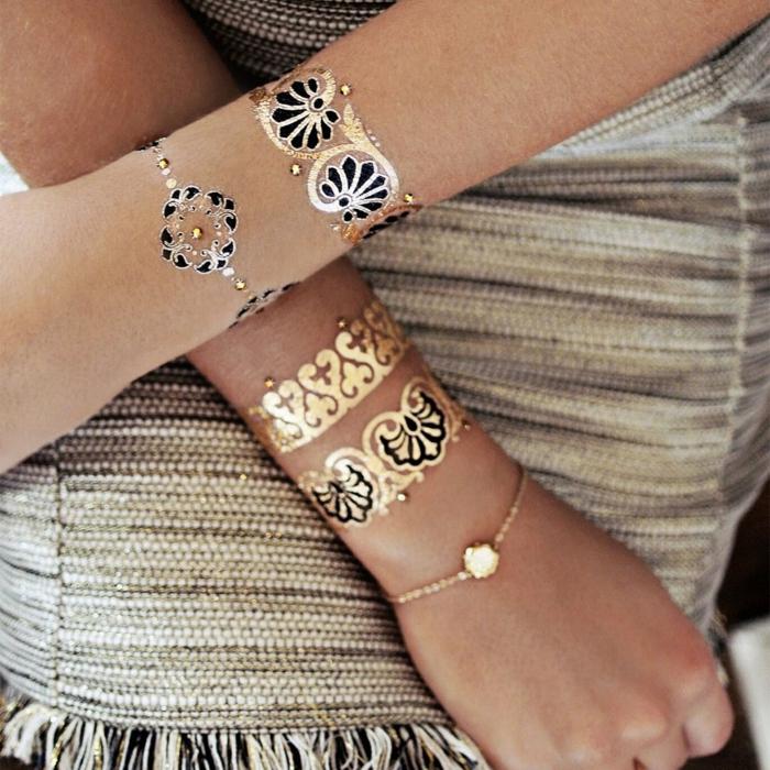 tatouage éphémère comme un bracelet