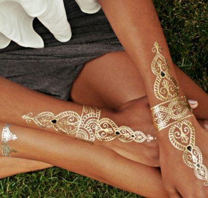Tatouage Ephemere Metallise Un Joli Accessoire De Mode Pour L Ete