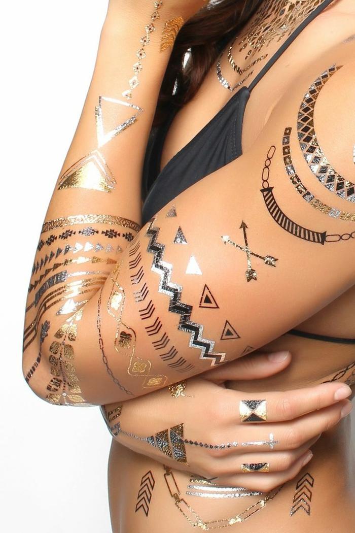 tatouage éphémère pour le corps