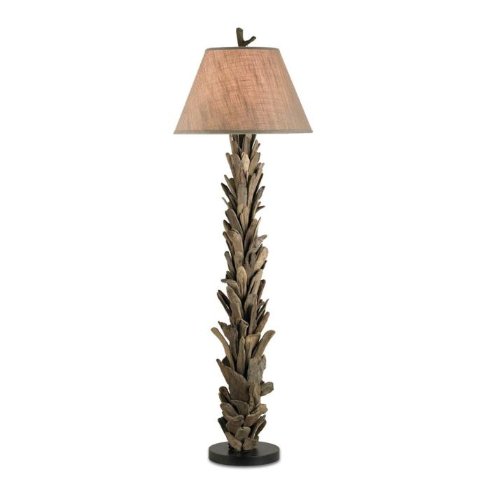Lampe en bois flott fabriquer vous m me beaucoup d for Abat jour bois flotte