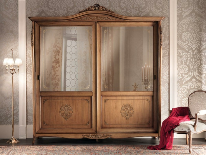 armoire patine