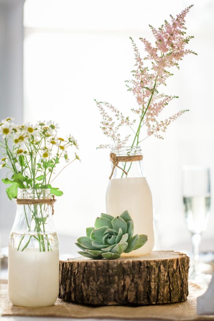 bouteille de lait diy vase idées cadeaux noël
