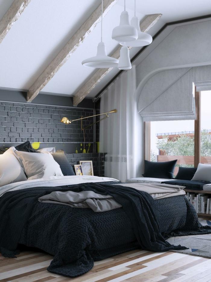 chambre à coucher couleur pour agrandir une pièce