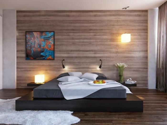 chambre à coucher parquet stratifié