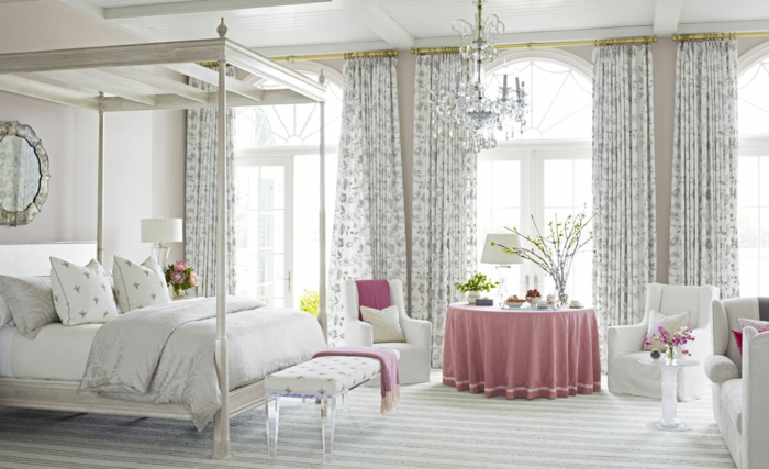 chambre accent rose