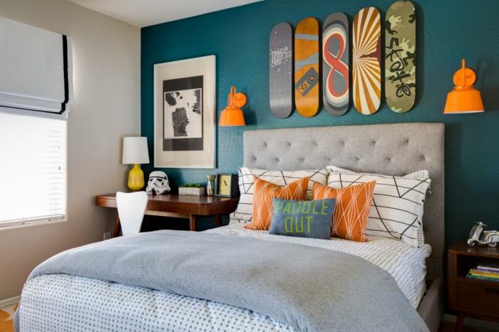 chambre accents en couleurs vives