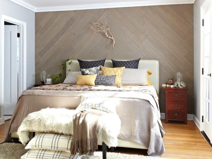 chambre en gris couleur pour agrandir une pièce