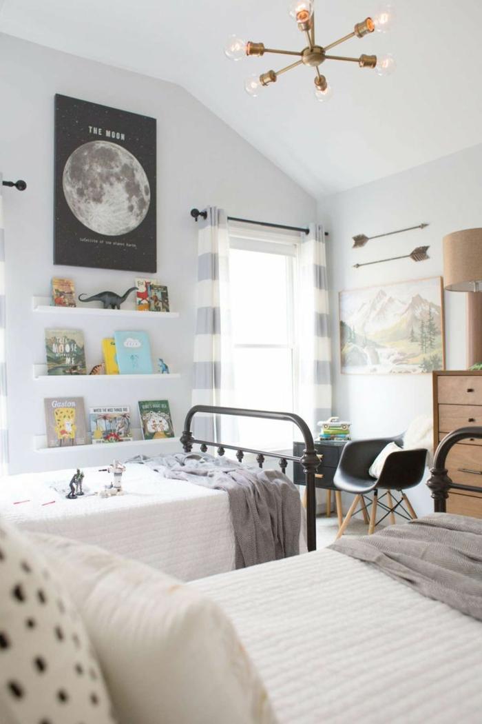 chambre enfant en gris couleur pour agrandir une pièce