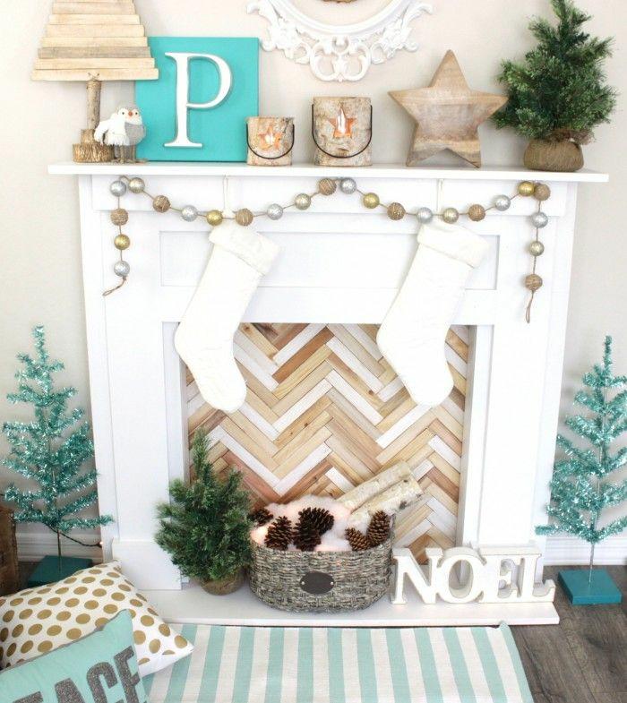 cheminée décoration noël