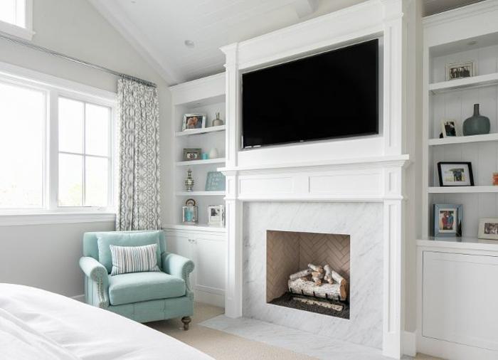 cheminée décorative chambre à coucher