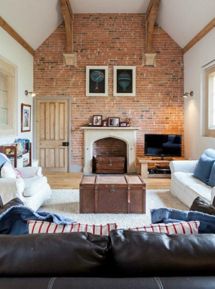 cheminée décorative intérieur