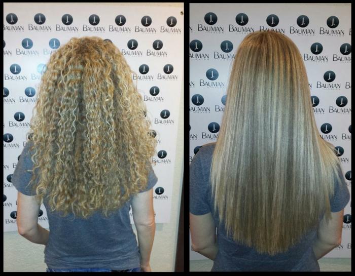 cheveux bouclés lissage brésilien