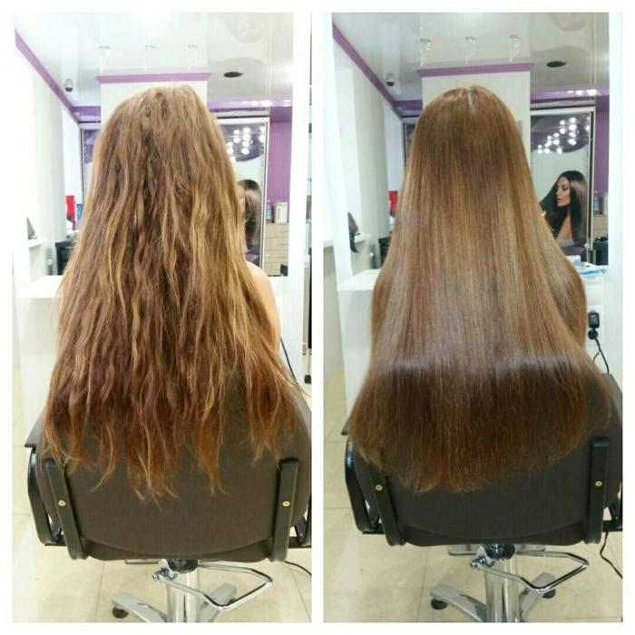 cheveux lissés lissage brésilien