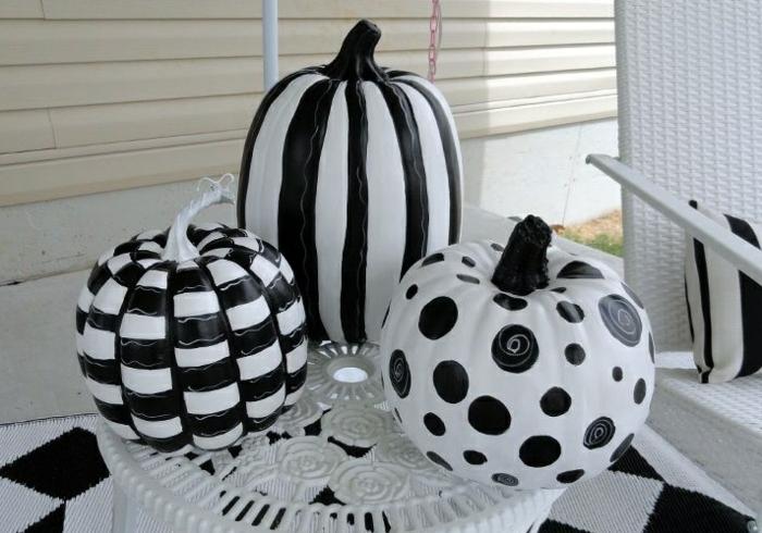 citrouilles décorées halloween