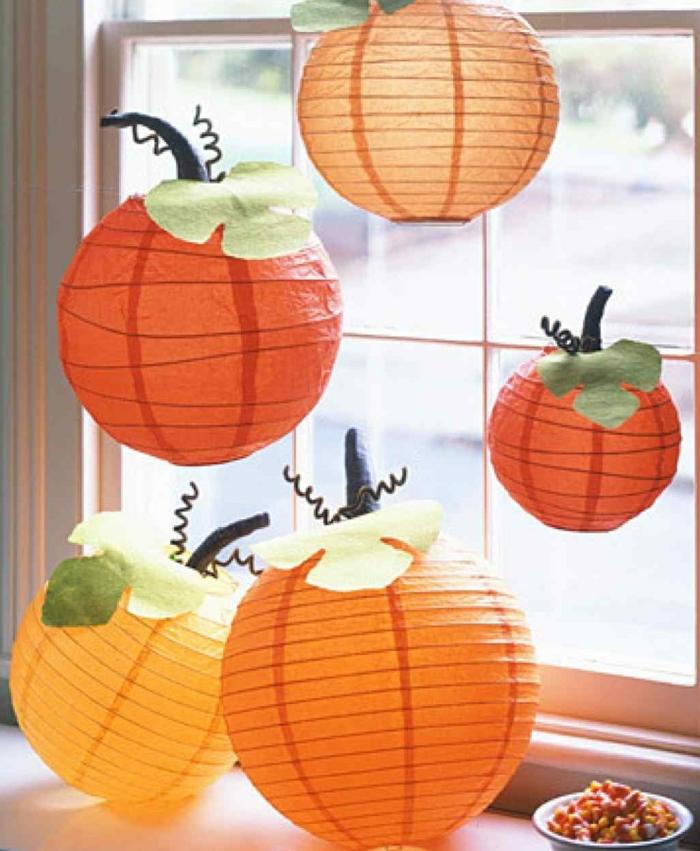 citrouilles de papier halloween