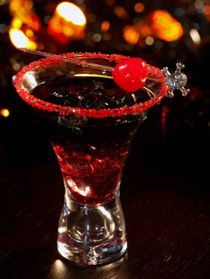 cocktail veuve noire halloween