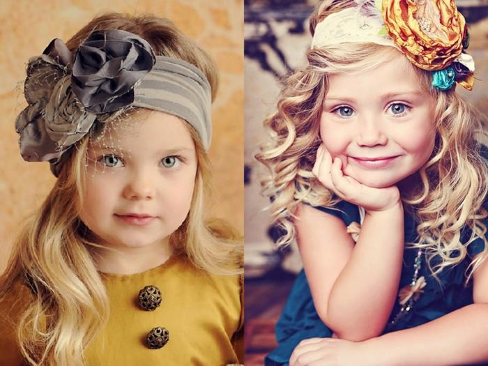 coiffure petite fille avec un diadème