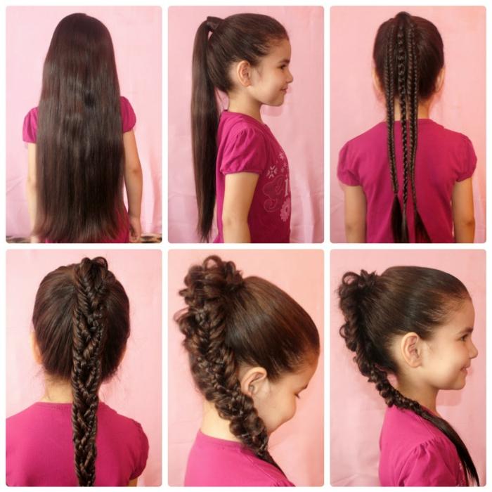 coiffure petite fille idée avec tresses