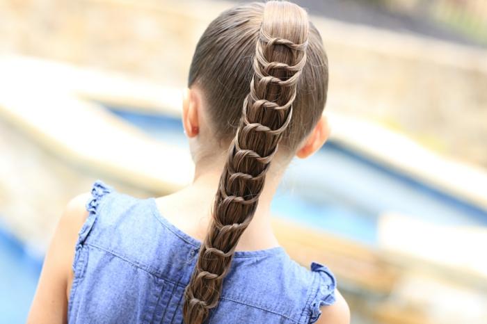 coiffure petite fille -queue de cheval intéressante