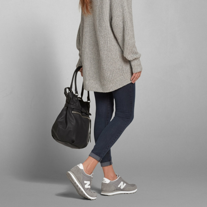 comment combiner le pull oversize