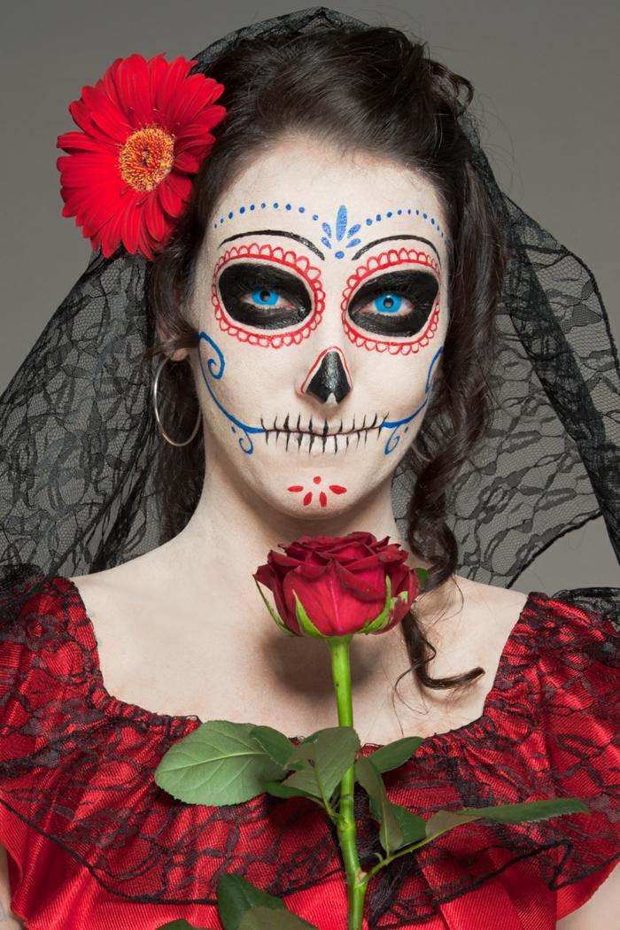 costume halloween dame fantôme