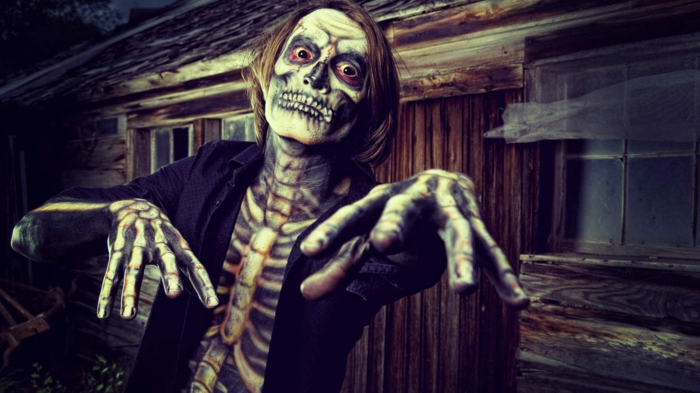 costume halloween squelette