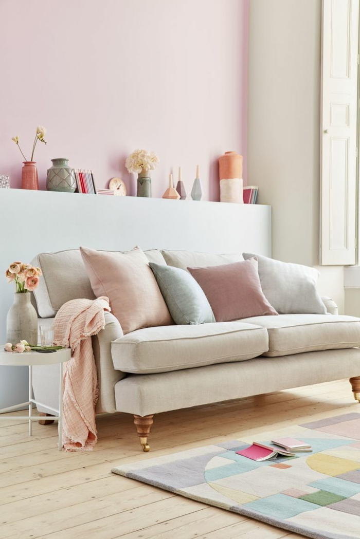 couleur pastel -idée couleur pour agrandir une pièce
