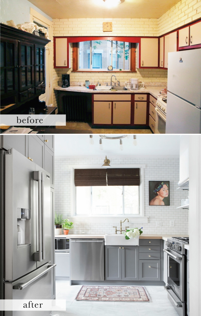 cuisine -tranformation couleur pour agrandir une pièce