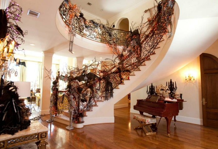 déco escalier halloween
