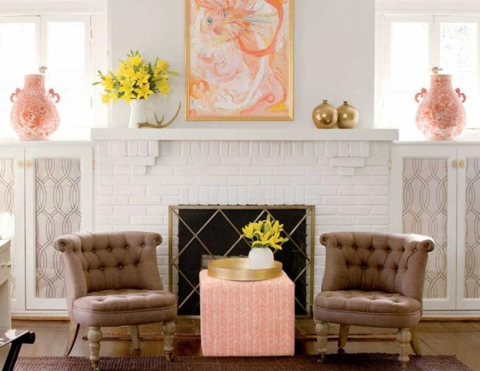 déco salon cheminée décorative