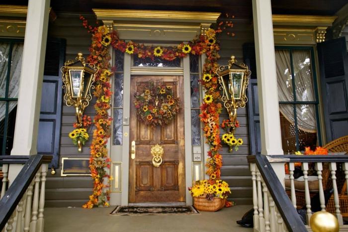 décoration de porte halloween