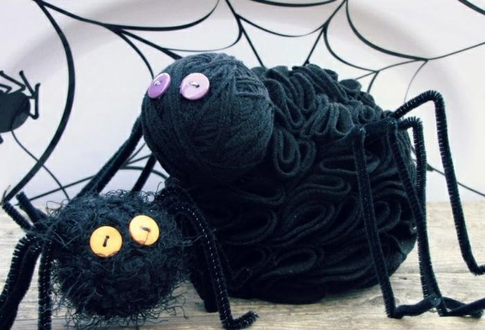diy araignées halloween