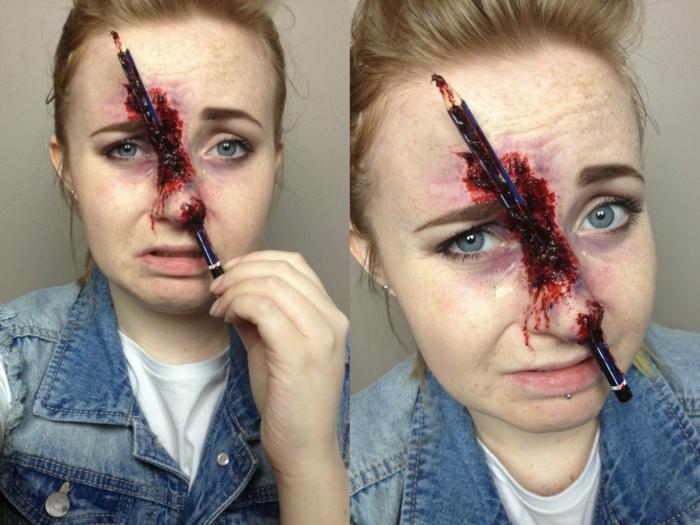effet maquillage halloween