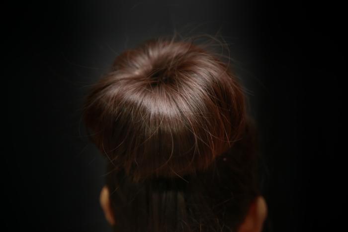 chignon- coiffure petite fille
