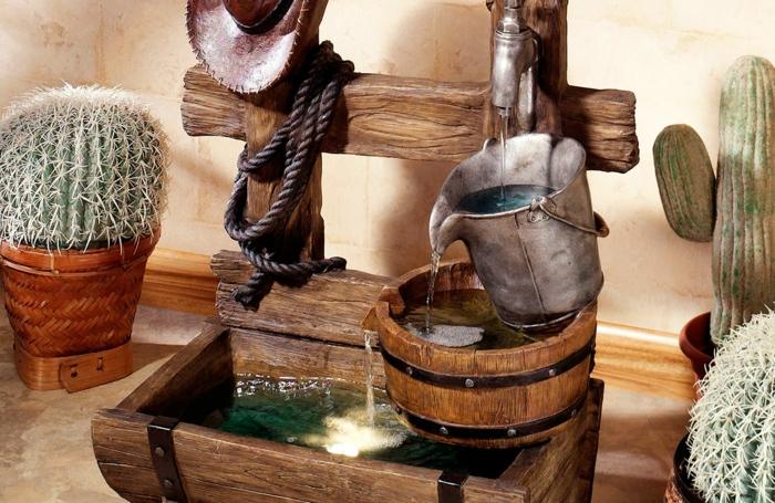 fontaine rustique intérieur