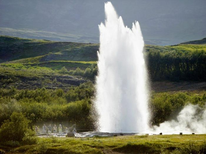 geysir- voyager en Islande