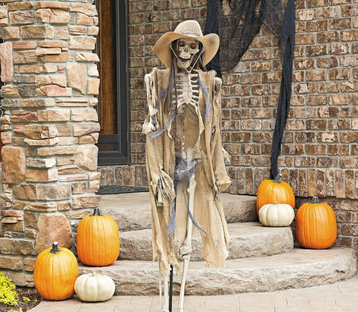halloween déco squelette