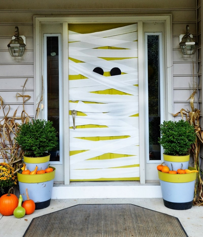 Deco porte halloween for Decoration porte halloween
