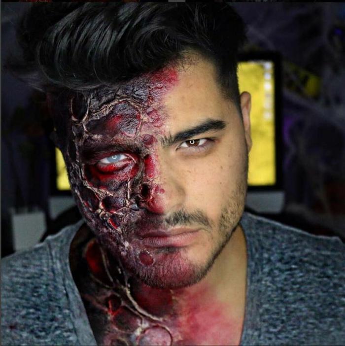 halloween maquillage homme