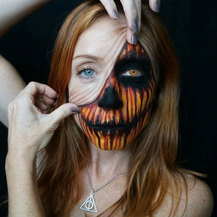 idée créative maquillage halloween
