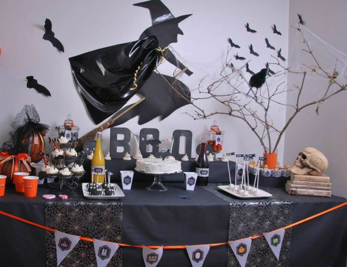 D coration halloween 40 superbes id es pour un party for Decoration de table halloween